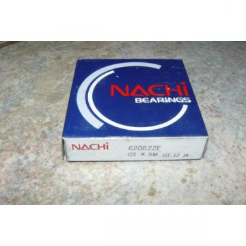 NACHI 6208ZZE DEEP GROOVE BALL BEARING SHIELDED 40MMX80MMX18MM