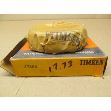 1 NIB TIMKEN 47686 TAPERED ROLLER BEARING CONE 3-14 ID X 1-516 WIDTH