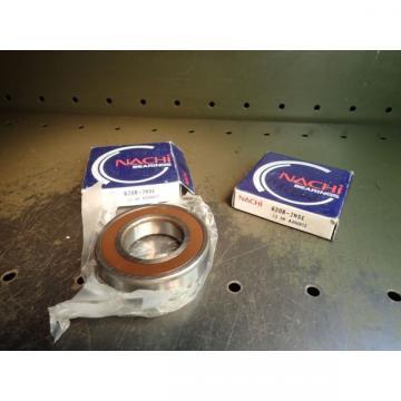 2 Pc Lot Nachi 6208-2NSE C3 Ball Bearings 40mm Bore 80mm OD 18mm Thick NOS Japan