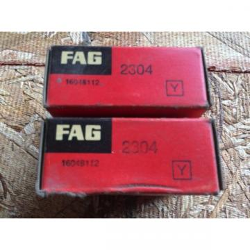 2-Fag  Bearings Cat 2304 comes w30day warranty free shipping