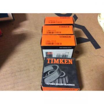 4-Timken  Bearings LM67010 Free shipping to lower 48 30 day warranty