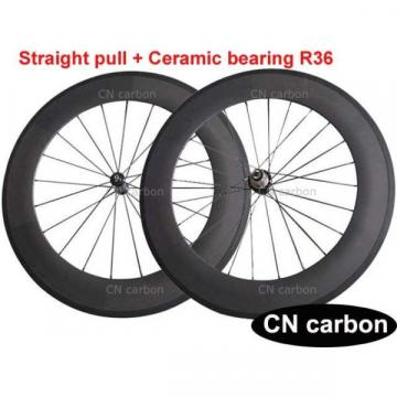 R36 Straight Pull Ceramic bearing U Shape 88mm Tubular carbon road wheels