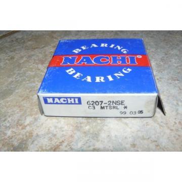 NACHI 6207-2NSE DEEP GROOVE BALL BEARING SHIELDED 35MMX72MMX17MM