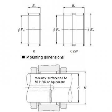 K3X5X7TN Needle roller bearings