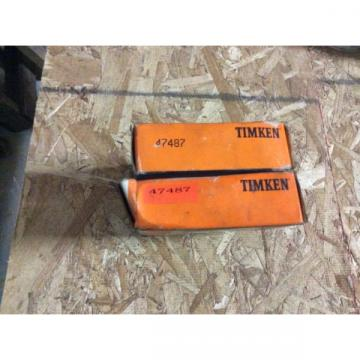 2-Timken tapered roller bearing  NOS 47487 free shipping to lower 48