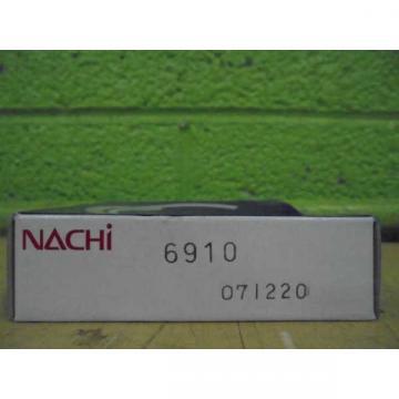 NACHI BEARING 6910  071220 BEARING *FACTORY SEALED*