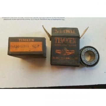 New Old Stock Timken LM11949 Tapered Roller Bearing LM 11910 Free Shipping!!