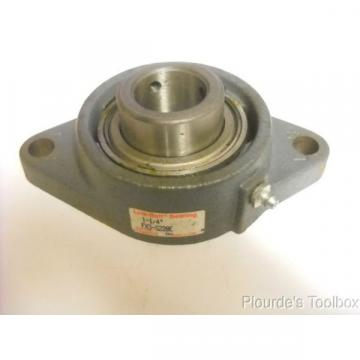 New Link-Belt FX3S220E Ball Bearing Flange Unit 2 Bolt Holes
