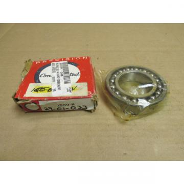 NIB CONSOLIDATED FAG 1209-K SELF ALIGNING BALL BEARING 1209K 45x85x19 mm