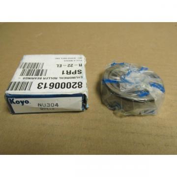 NIB KOYO NU304 CYLINDRICAL ROLLER BEARING NU 304 20 mm ID 52 mm OD 15 mm W
