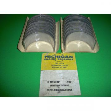 NOS R7195CAP .030 MICHIGAN Rod Bearings 401 461 478 549 V8 INTERNATIONAL DODGE