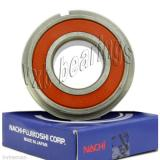 6304-2NSENR Nachi 20mm x 52mm x 15mm Sealed C3 Snap Ring Clip Japan Ball Bearing