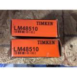 2-Timken-bearingsLM48510 Free shipping lower 48 30 day warranty!