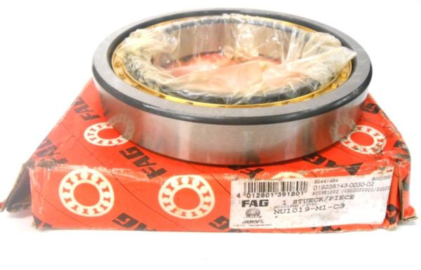 FAG BEARINGS CYLINDRICAL ROLLER BEARING NU1019M1.C3 95 X 145 X 24 MM